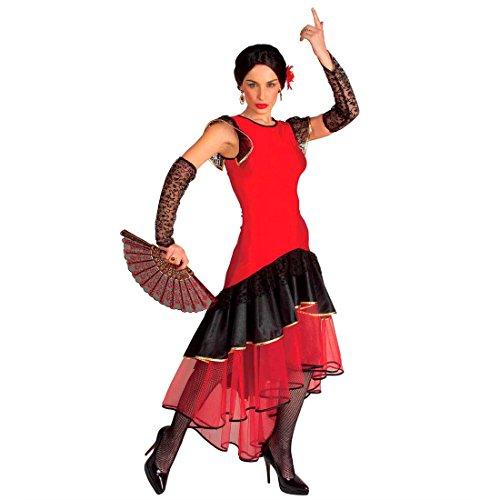 Flamenco Kostüm Spanische Tänzerin Damenkostüm L (42/44) Spanierin Kleid Senorita Fasching Spanien Mexikanerin Faschingskostüm Mexiko Karnevalskostüm Damen Sexy Mottoparty Verkleidung Karneval ()