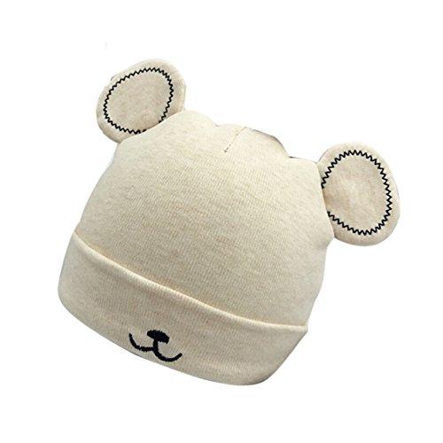 Baby Mütze Beanie,Tonsee Winter Jungen Mädchen Hut Tiere Design Soft Wollene Hüte Kinder Cap Unisex Einfabrig und Streifen (Gelb)