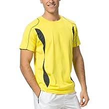 Asioka 105/14 Camiseta Térmica de Manga Corta, Unisex Adulto, Amarillo, ...
