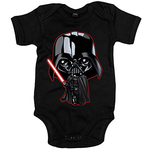 Body bebé Star Wars Darth Vader Kawaii - Negro, 12-18 meses