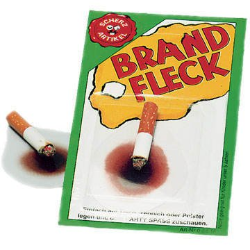 kt mit Zigarette auf Karte, Mehrfarbig, Einheitsgröße ()