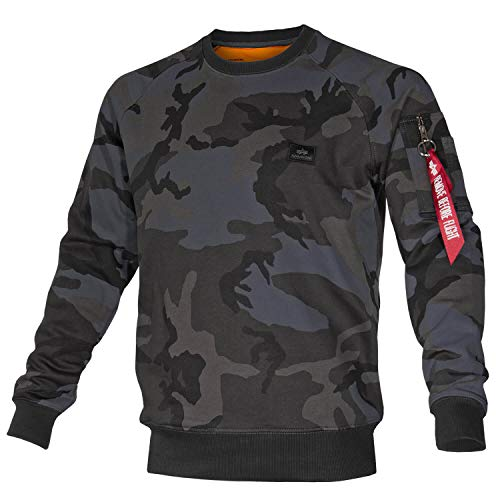 Alpha Ind. X-Fit Sweat Black camo - XL Camo Sweatshirt