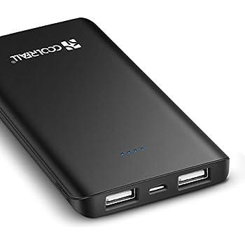 Coolreall Power Bank 6000mAh, Ultra Compact Caricabatterie Portatile Powerbank Doppia Porta USB Batteria Esterna per iPhone, iPad, Huawei, Samsung, ecc(Aggiorna la versione)