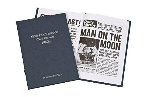 personalisierbar 1960Jahrzehnt Zeitung Buch Geschenk für 50. Geburtstag/Weihnachten