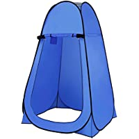TataYang Camping Toilet Tent Outdoor Hiking Pop Up Shower Privacy Tent Changing Dressing Fishing Bathing Storage Room Tents Blue