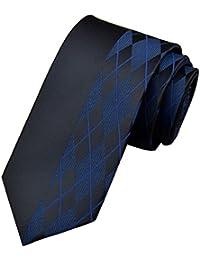 EOZY Cravates Motif Pois Mince Soie Cravate Hommes Soirée Chemise Pois Uni