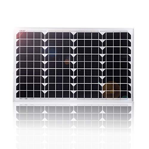Panel solar mono BETOP-CAMP de 40 vatios con cable Crocodile Clip Line de 1,5 m: fuente ideal de energía gratuita para caravanas, autocaravanas, botes o cualquier otro sistema fuera de la red con baterías de 12 VLos paneles solares utilizan la energí...