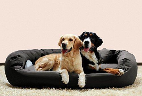 TIERLANDO® Orthopädisches Hundebett ARES VISCO   Polyester   XL XL+ XXL XXXL (AV15 125x105cm, 02 Graphit)