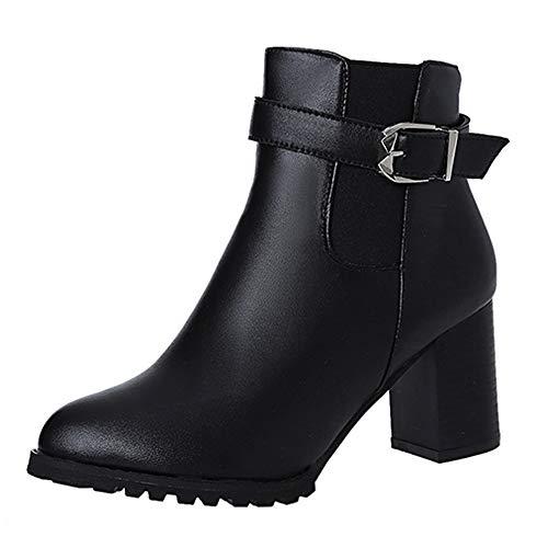Watopi Teenager-Mädchen Stiefel Damen Herbst Winter Kurze Stiefel Absatzschuhe Stiefel Stiefeletten Schuhe