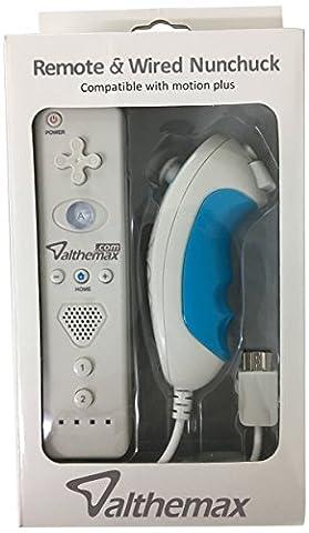 Althemax® Neues Design Anti-Rutsch-Anti-Rutsch-Komfort-Griff Fernbedienung Nunchuk Basic Weiß für Nintendo Wii / Wii Mini / Wii