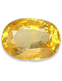 Kalyan Gems Yellow Sapphire Pukhraj Loose Natural Certified Precious Pukhraj Gemstone 12.25 Ratti