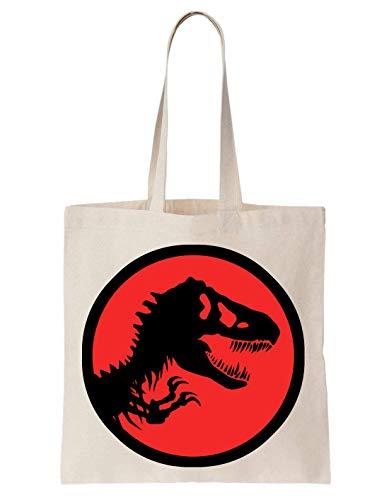 KRISSY Jurassic Park Dinosaur Red Schultertasche Tote Bag