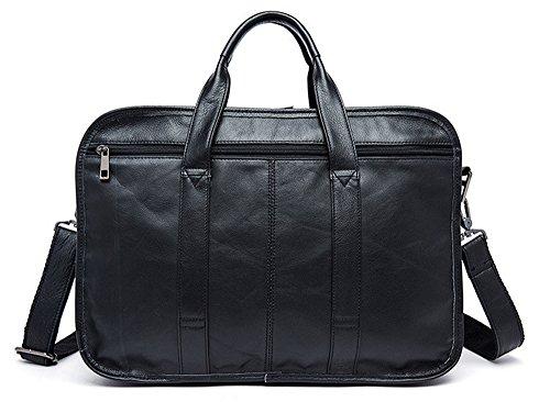Xinmaoyuan uomini Borsette Pelle olio pacchetto maschio grande capacità uomini in pelle della Business borsetta valigetta Messenger,Nero Nero