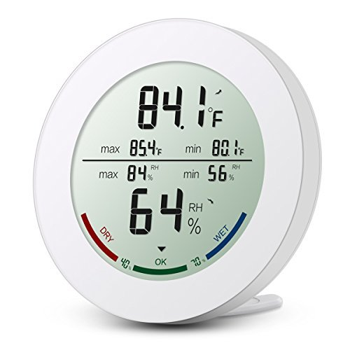 ORIA Termometro Interno, Igrometro Termometro Digital, Monitor Temperatura e Umidità con Indicatori di Comfort, Min/Max, ℃/℉ e Tendenza Del Cambiamento di Temperatura per Casa/Ufficio/Magazzino, ecc.
