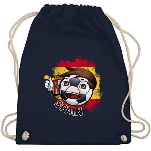 Navy Fußball-maskottchen (Fußball-Europameisterschaft 2020 - Fußballjunge Spanien - Unisize - Navy Blau - WM110 - Turnbeutel & Gym Bag)