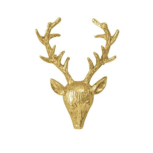 Eternal Collection Highland Hirsch Gold Ton Brosche Gold 6