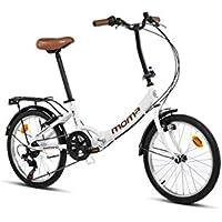 Moma bikes First Class Blanca, Bicicletta Pieghevole Unisex Adulto, Bianco, Unic Size