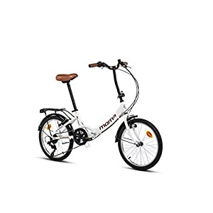 41NGgKpgRdL. SS300 Moma bikes First Class Blanca, Bicicletta Pieghevole Unisex Adulto, Unic Size