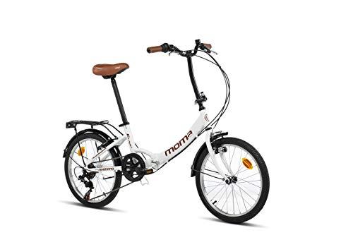Moma Bikes Bicicleta Plegable Urbana SHIMANO FIRST