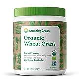 Amazing Grass Bio Hierba de trigo de hojas enteras para máxima nutrición, Rica fuente de fibra, hierro, calcio, fósforo, magnesio y potasio, Regenera la esfera digestiva, Ideal para batidos verdes