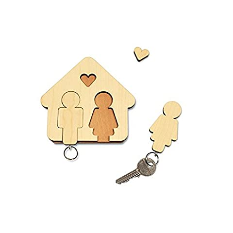 """Schlüsselbrett """"Mann + Frau"""" - das perfekte Geschenk zu Weihnachten, zur Hochzeit oder zum Valentinstag!"""