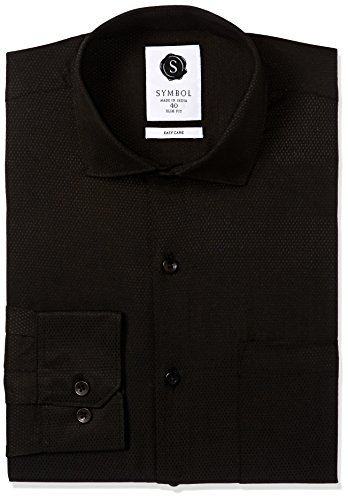 Symbol-Mens-Formal-Dobby-Slim-Fit-Shirt