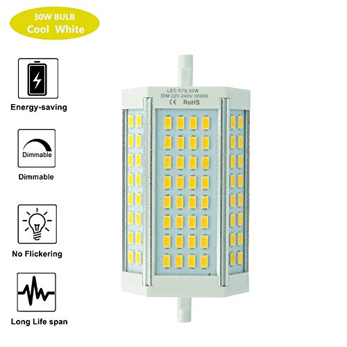 Bombilla LED R7S 118mm 30W Regulable doble