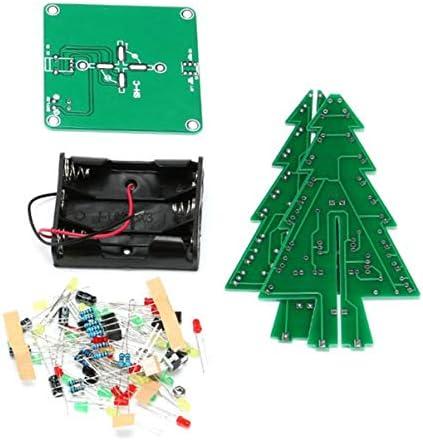 JullyeleFRgant DIY 3D Arbre De Noël LED Kit Rouge Jaune Vert Jaune Rouge LED Flash Circuit Pièces Électronique Drôle Suite Noël Nouvel an Présent B07MH2KMCZ 00ee27