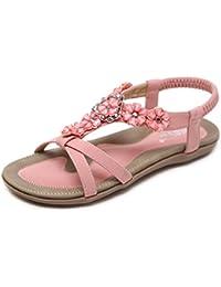 4aa8f7765141d6 Swallowuk Damenschuhe Böhmen Sandalen Strand Schuhe Freizeit Sandalen Flip  Flop Sommerschuhe mit…