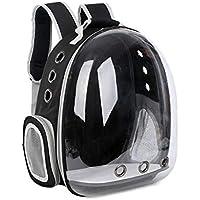 Haolv Pet Travel Carrier Mochila Perro Mochila Orificios Transpirables para Gatos Y Perros Pequeños Space Capsule Pet Bag,Black