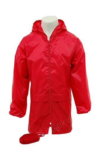 Kids Pack a Mac Rain Jacket Kagool | Coat Cagoule | Age 4~16