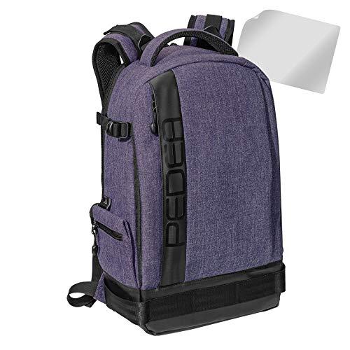 PEDEA SLR-Kamerarucksack Fotorucksack mit Displayschutz für Olympus E-M10, E-M5 Mark II, Pen E-PL8 E-PL9 / Canon EOS M50 / Nikon D5600, D7500 / Panasonic Lumix DMC G9 G70 G81 GX8 GX80, lila