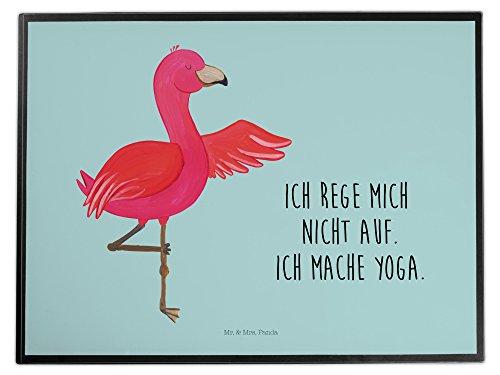 Mr. & Mrs. Panda Schreibtischunterlage Flamingo Yoga - 100% handmade in Norddeutschland - Ärger,...