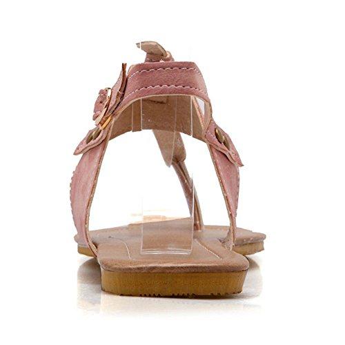 TAOFFEN Damen Flip Flops Slingback Yoga Flach Sandalen Rosa
