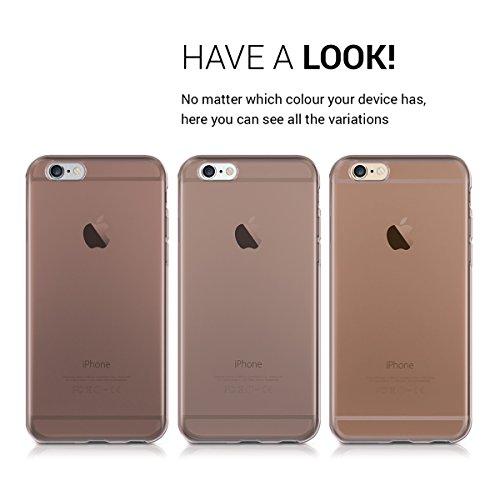 kwmobile Étui en TPU silicone élégant pour Apple iPhone 6 / 6S en bleu clair mat .or rose