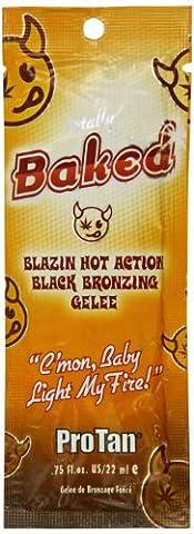 Pro Tan Totally Baked - Blazin Hot Action Black Bronzing Gelee Sunbed Lotion 22ml, 1er Pack (1 x 22 (Dunkle Bräunung Formel)