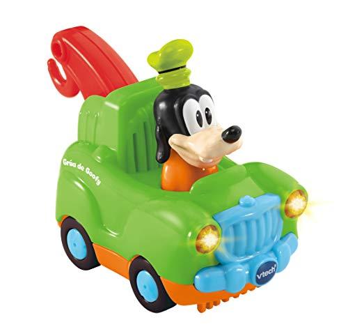 VTech TutTut Bólidos Disney Grúa de Goofy, Coche Interactivo con Música, Voz, Color Verde (TTB