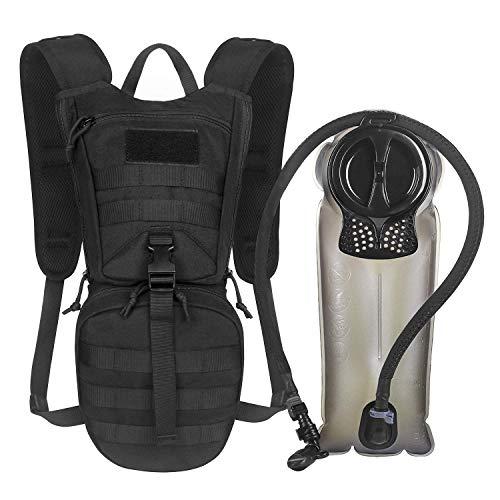 Unigear Trinkrucksack mit 2.5L Trinkblase, taktischer Hydration Rucksack Fahrradrucksack für Klettern Trekking Radfahren Bergsteigen Outdoor Sports MEHRWEG (Elite-Version,Schwarz+2.5L Trinkblase)