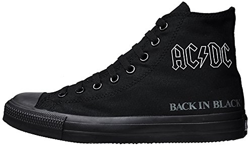 Converse All Stars Chuck Taylor Color: Black LEAD 111070 AC/DC Back in Black Gr: EU: 36,5 UK: 4 Limited Edition - Converse Jack Purcell Damen