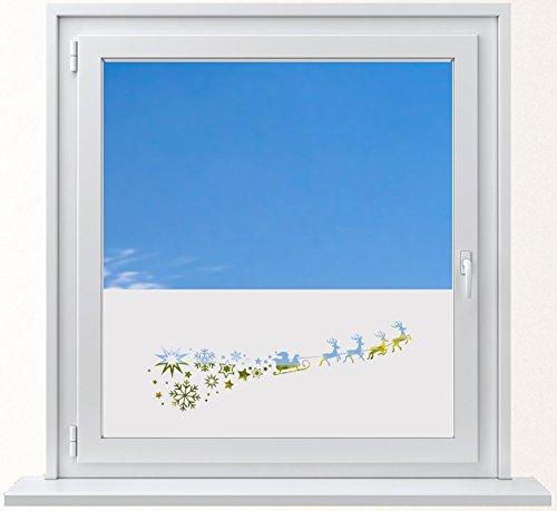 DD Dotzler Design 6416-21 Sichtschutzfolie Winter Fensterfolie Milchglasfolie Weihnachten Nikolaus Sterne Schneeflocken Weihnachtsmann Milchglasfolie -