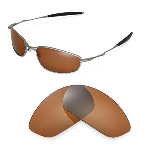 Walleva Ersatzgläser für Oakley Whisker Sonnenbrille - Mehrfache Optionen (Braun - polarisiert)