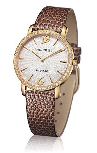 Rossini Damen-Gold vergoldet mit strukturierten Zifferblatt–rosls012