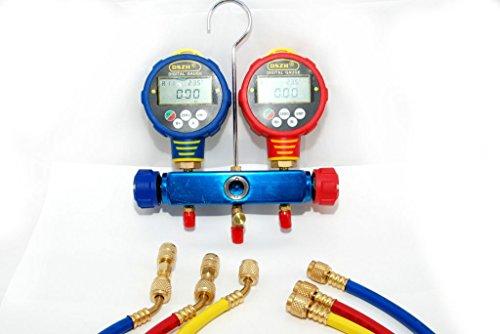 Digitale Prüfarmatur WK-6882, Monteurhilfe für Klimaanlagen KFZ, Kältemittel Kältetechnik, test armature -
