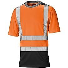 Dickies - Camiseta de alta visibilidad de manga corta y 2 tonos Hombre caballero
