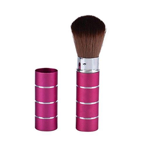 Keepwin 1pcs Brosse De Maquillage Télescopique En Métal Poudre Lâche Pinceau Blush Brosse (A)