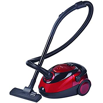 INALSA Vacuum Cleaner Easy CLEAN-1200W with Blower& 2L Washable Cloth Filter Bag|100% Copper Motor|Powerful 18KPA Suction|Easy Carry Handle,Dust Bag Full Indicator,Automatic Cord Winder,(Red/Black)