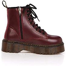 SED Bota de Mujer  S Boots Thick Soles Martin Boots Punk Boots Heel Zipper  Otoño 015e91d5b44