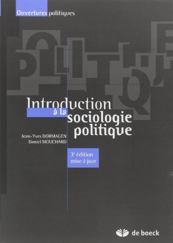 Introduction a la sociologie politique de Jean-Yves Dormagen (21 septembre 2010) Broch