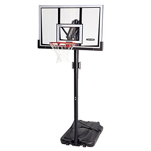 LIFETIME Lebenslange 90061Tragbare Basketball-System, 132,1cm Bruchsichere Rückwand