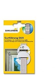 Schellenberg 15102 Duo Guide-sangle rond pour sangle de volet roulant avec Joint coupe-vent Système Mini/Maxi